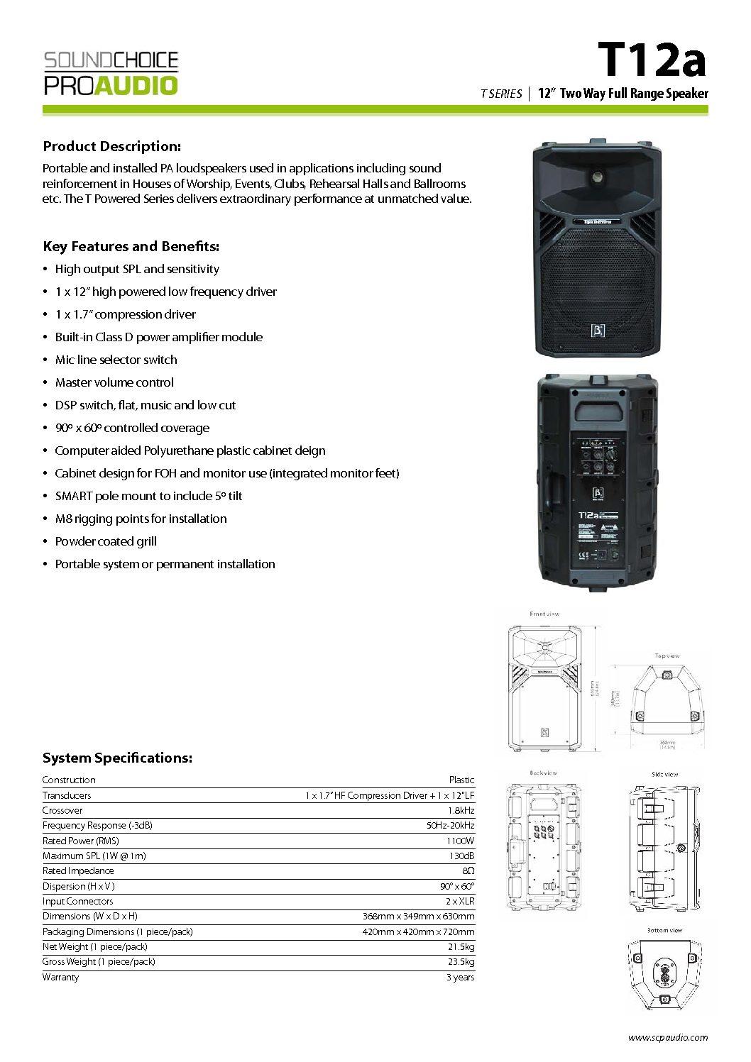 Sound System 1100 Watts RMS – Ashburton U-HIRE